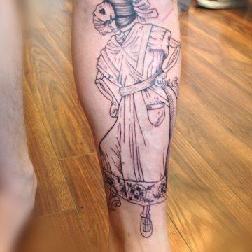 Tatouage mort squelette